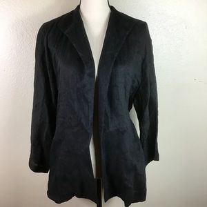 EUC- Eileen Fisher Linen Black Blazer